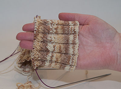 Broad Spiral Ribbing pattern