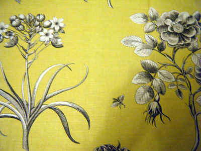 Upcycled Sanderson upholstery fabric