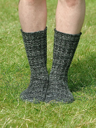 Toe Up Walking socks