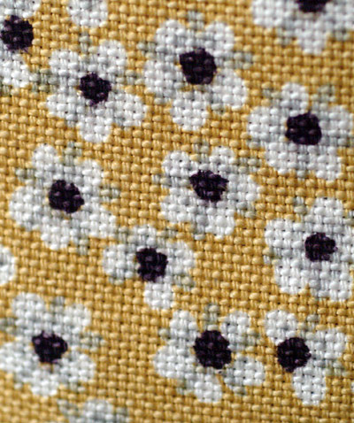 yellow flowered fabric
