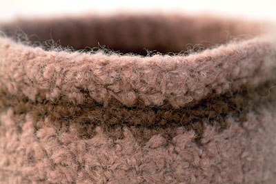 Crocheted felted bowl