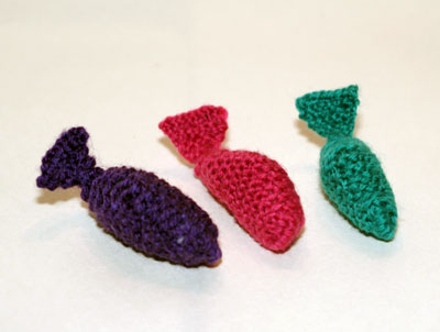 knitted catnip whales