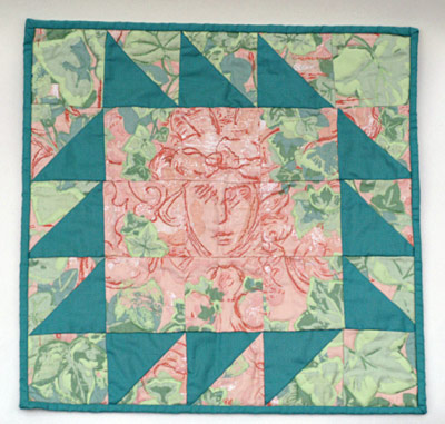 Terracotta Woman wall quilt