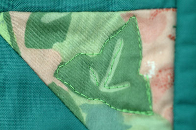 ivy leaf in quilt
