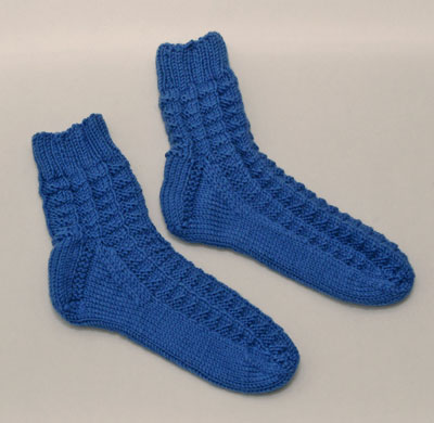 blue bedsocks