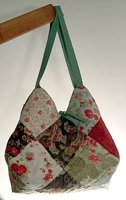 Quilted Tote Bag made from Moda Glace fabric
