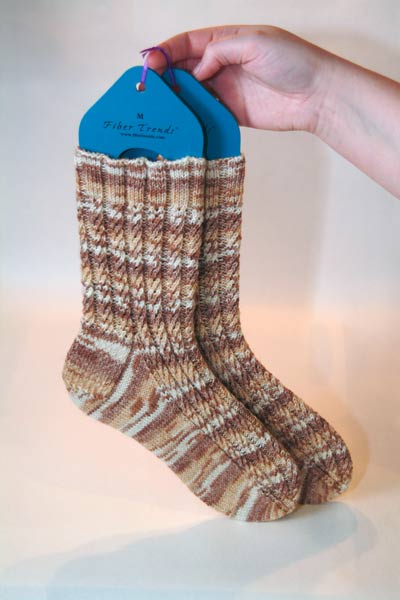 Broad Spiral Ribbing socks