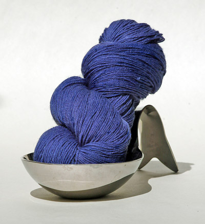 The Yarn Yard blue sock yarn