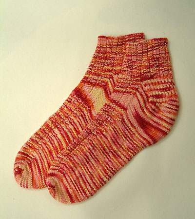 Toe up bed socks