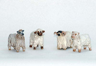 handmade sheep figures